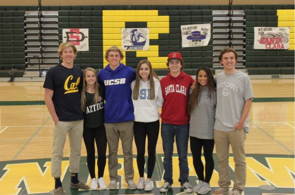 The SRVHS Wolfprint SRVHS senior athletes participate in – National Letter of Intent